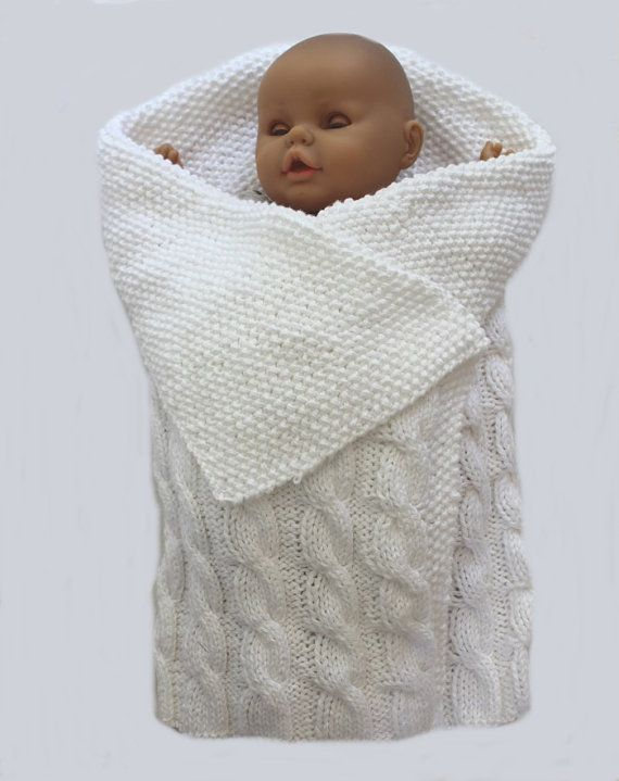 baby KNITTING PATTERN Swaddle Me Baby Bunting by ...