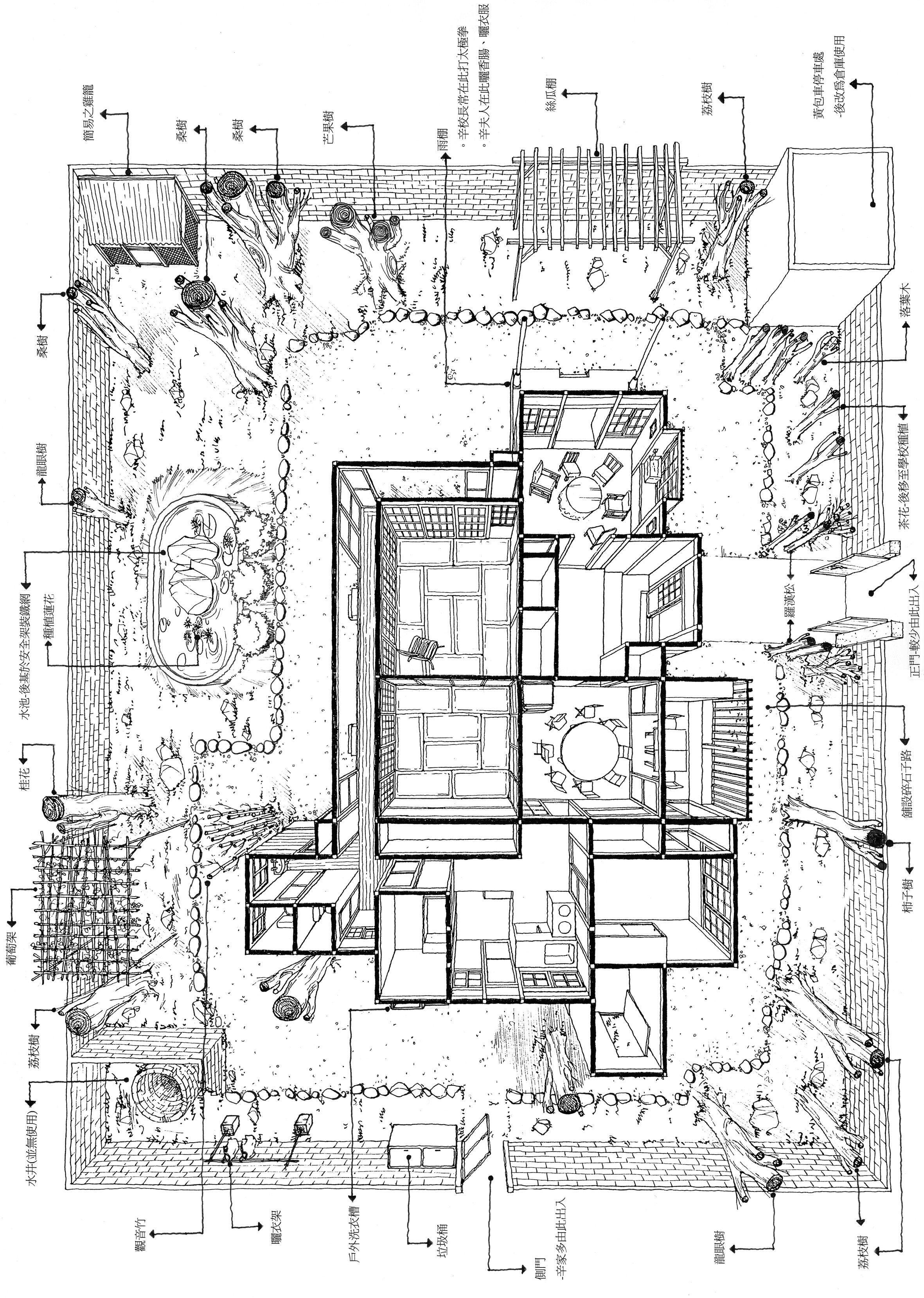 Plan Maison Traditionnelle Japonaise ecohouseillustration | architecture japonaise