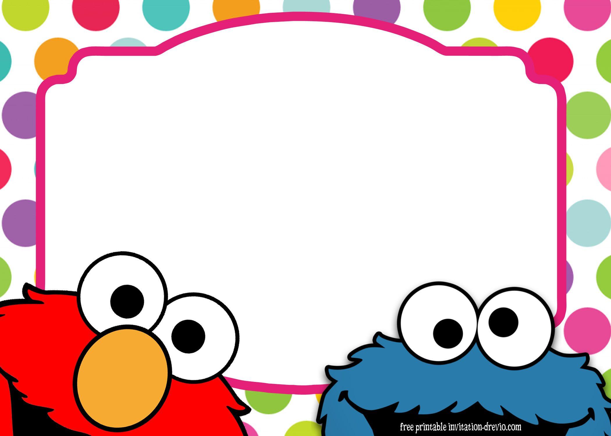 Sesame Street Twin Birthday Invitation Template Elmo Invitations Elmo Birthday Invitations Birthday Card Template