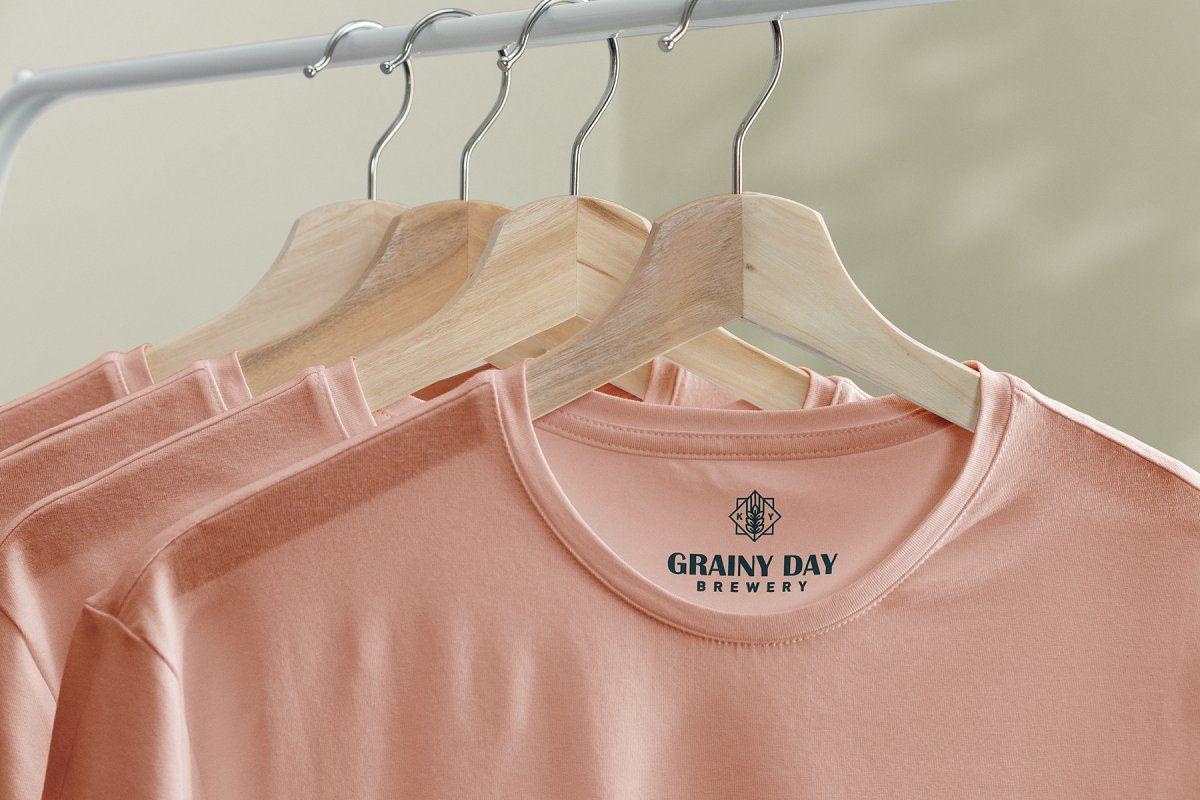 Download T Shirt Mock Up On Hanger Tshirt Mockup Graphic Design Portfolio Print Mockup