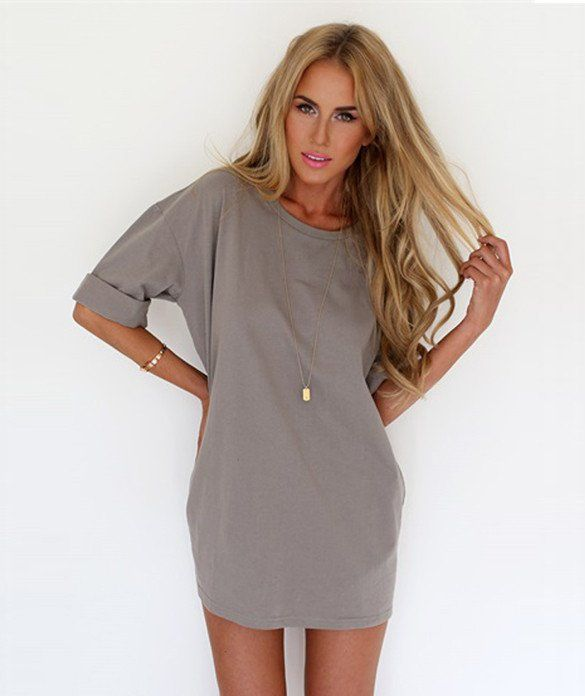 This beach shift dress make women more fashion and beautiful,together with the short style,virtually elongated the leg line,pure color set off your skin softly
