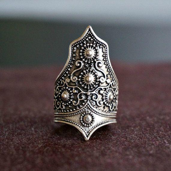 Itzel Tribal Silver Ring Gypsy Ring Bohemian by sowelljewelry