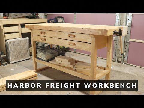 60 In 4 Drawer Hardwood Workbench In 2020 Workbench Plans Diy Woodworking Plans Workbench Workbench Organization