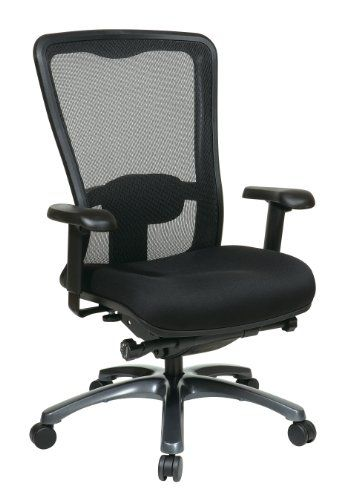 Office Star High Back Breathable Progrid And Freeflex Seat Adjule Black Managers Chair Anium Finish