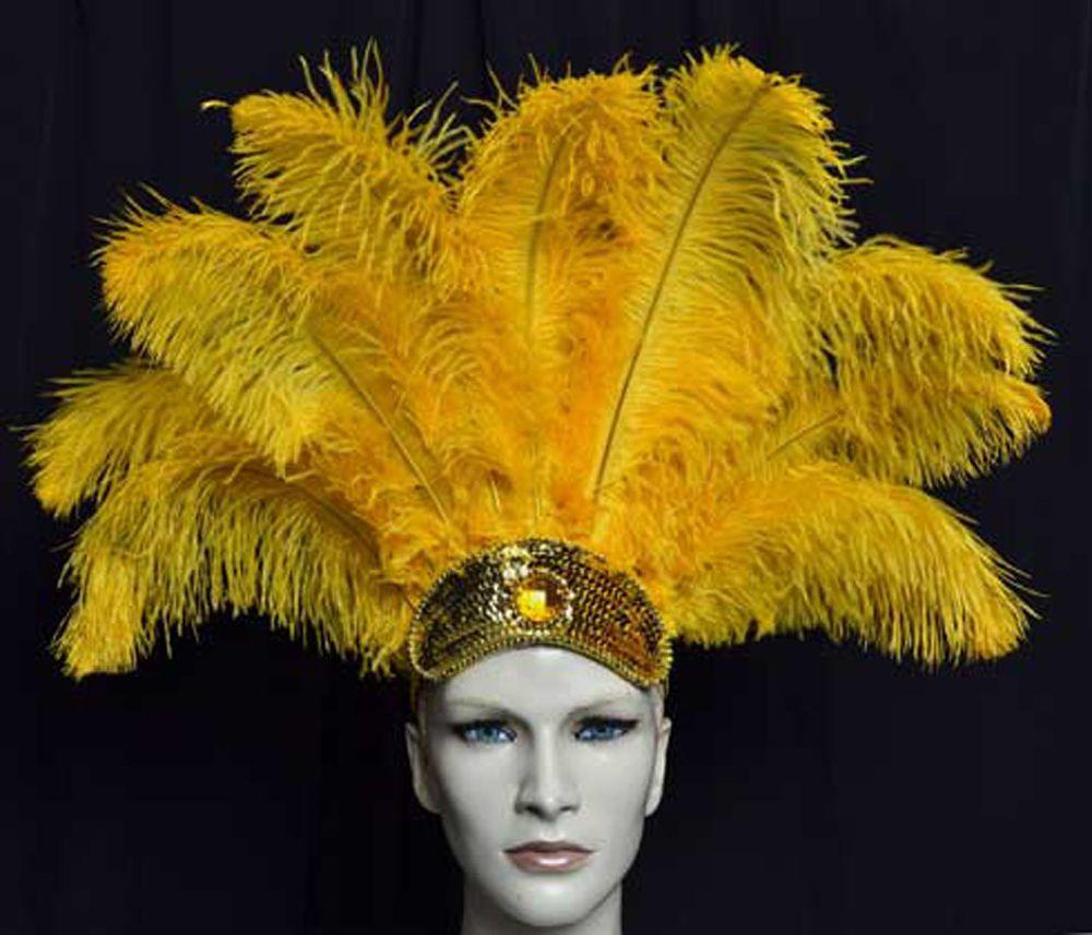 Dance Headdress Ostrich  Feathers Carnival