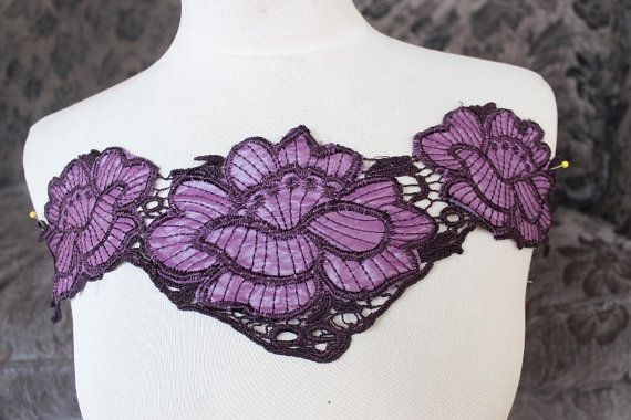 Cute embroidered flower applique -- one piece    More applique http://www.etsy.com/shop/paviapavia?section_id=7517655 Lace