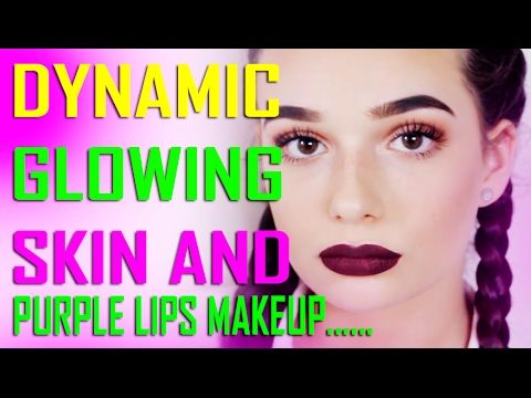 DYNAMIC GLOWING SKIN AND PURPLE LIPS MAKEUP || FIRST LOOK BEAUTY QUEEN T...