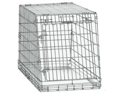 General Cage Slant Front Collapsible Dog Crate From Pet Travel