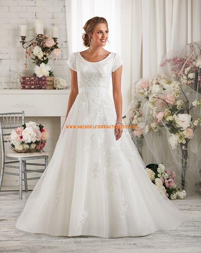 Bonny Bliss A-linie Glamouröse Dramatische Brautkleider aus Softnetz ...