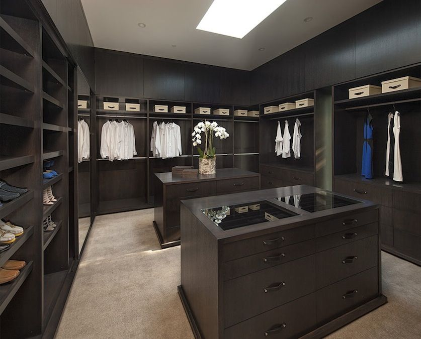 Beautiful Walk In Closets have your walk in closet all black/darker tones pretty much like