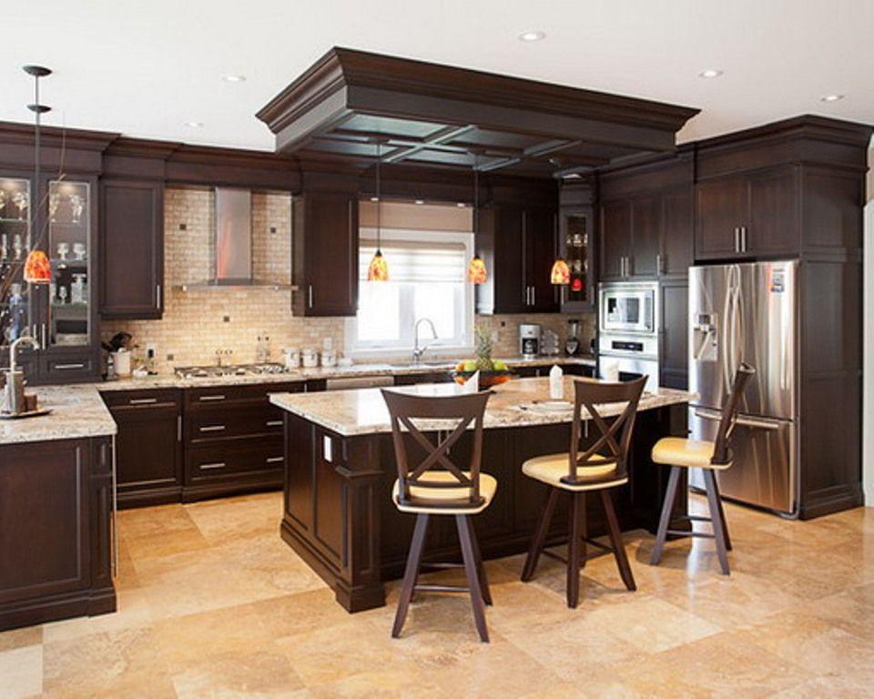 20 Top Kitchen Design Ideas For 2015 Dark Brown Kitchen Cabinets Brown Kitchen Cabinets Top Kitchen Designs