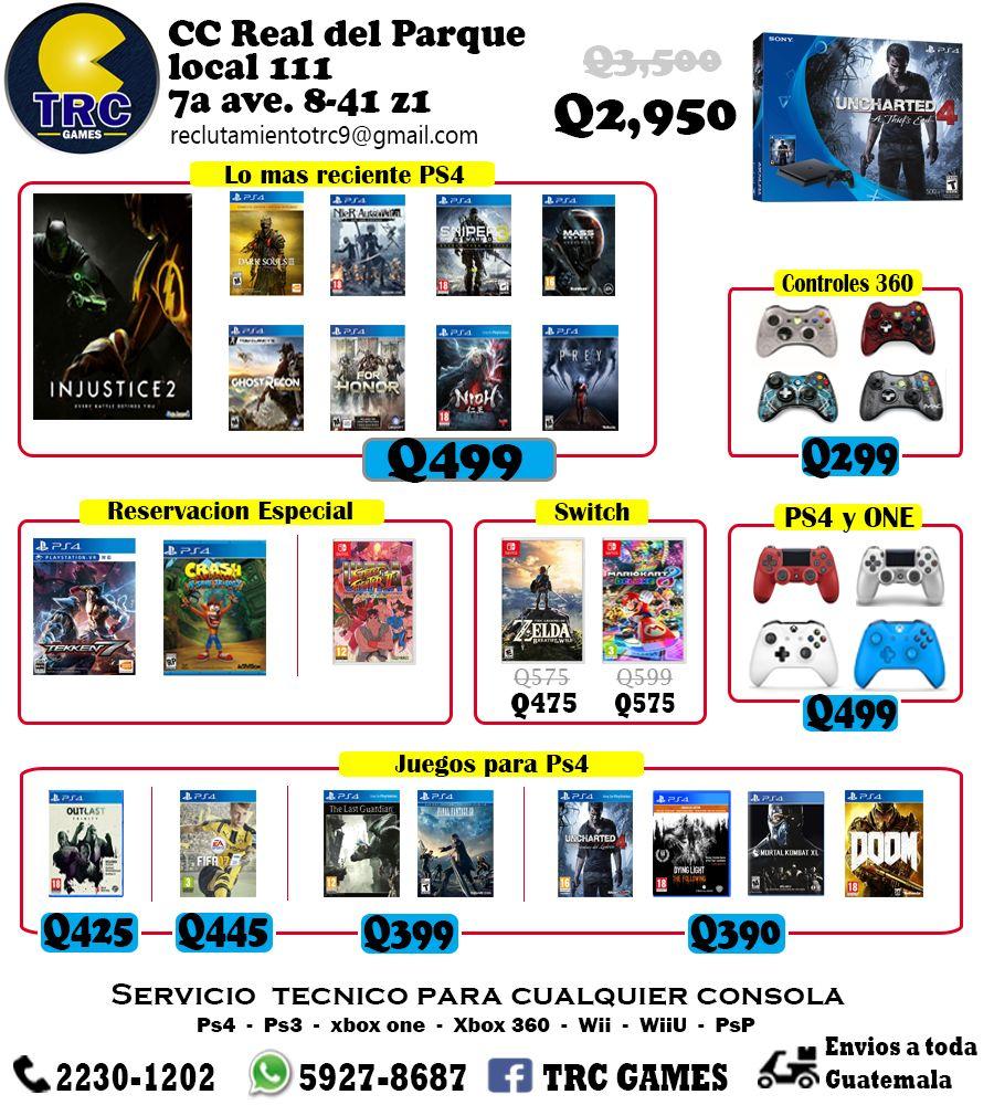 consolas de videojuegos en guatemala