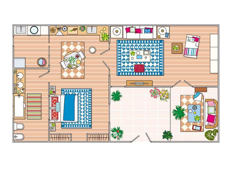 Antes y despu s un piso de 40m2 reformado planos for Diseno de apartamento de una habitacion
