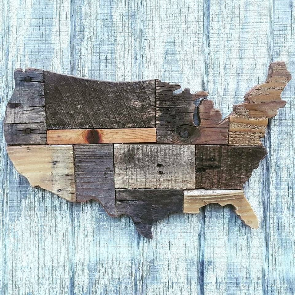 American Patchwork Reclaimed Wood Art Small Reclaimed Wood Art