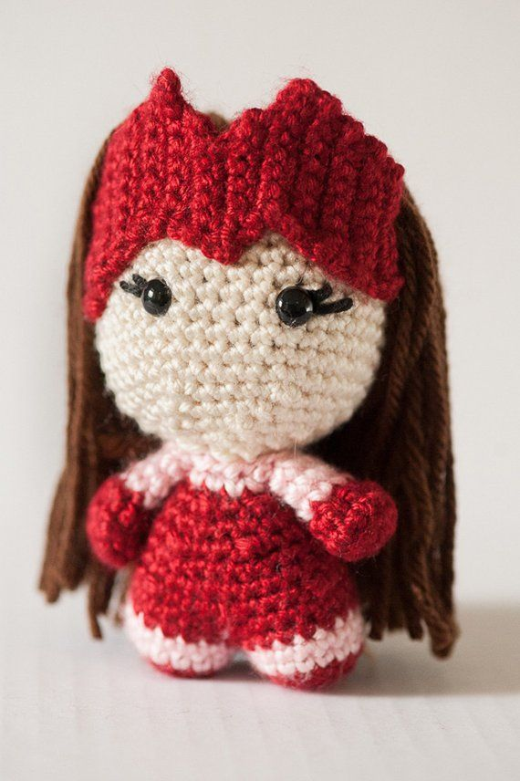 0bc794e8e77 Scarlet Witch Amigurumi Doll inspired by Marvel Comics    Marvel Crochet  Pattern    Instant Download