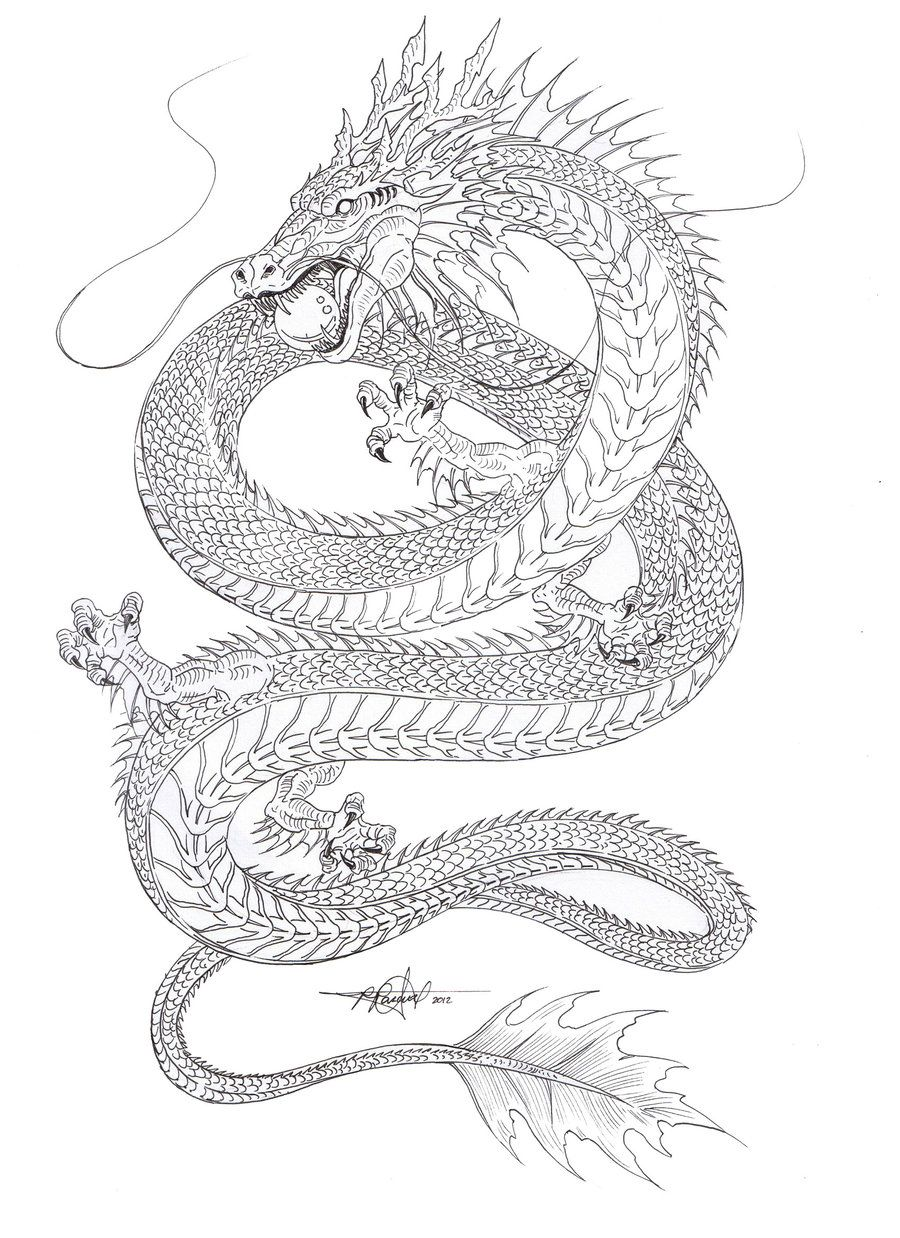 Kind of liking the shape... Water Dragon outline by