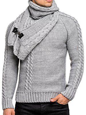 877f91cbe99737 Pullover Herren Strickpullover Winter Strick Strickjacke Tazzio Longsleeve  Clubwear Langarm Shirt Sweatshirt Hemd Pulli Kosmo Japan