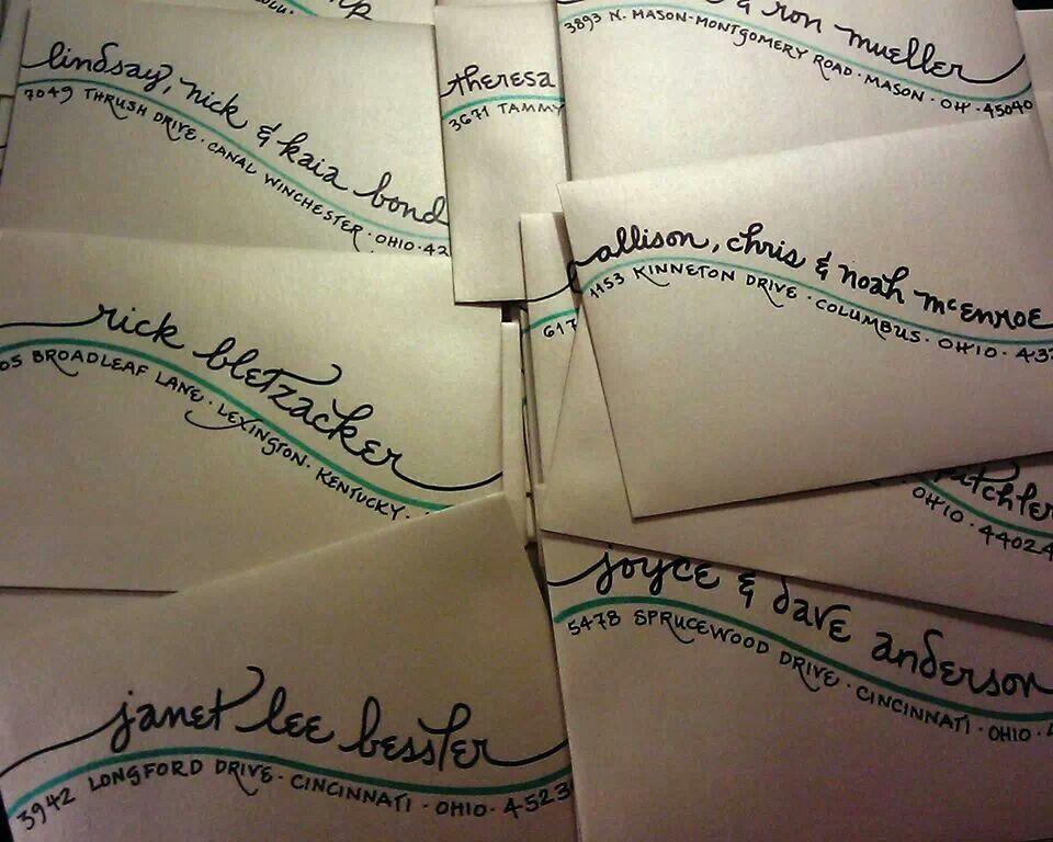 Addressing envelopes lettering fun mail envelope art