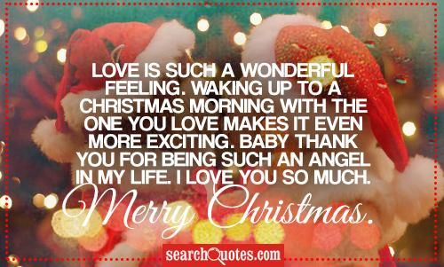 Christmas Quotes About Love Adorable Love Is Such A Wonderful Feelingwaking Up To A Christmas Morning W