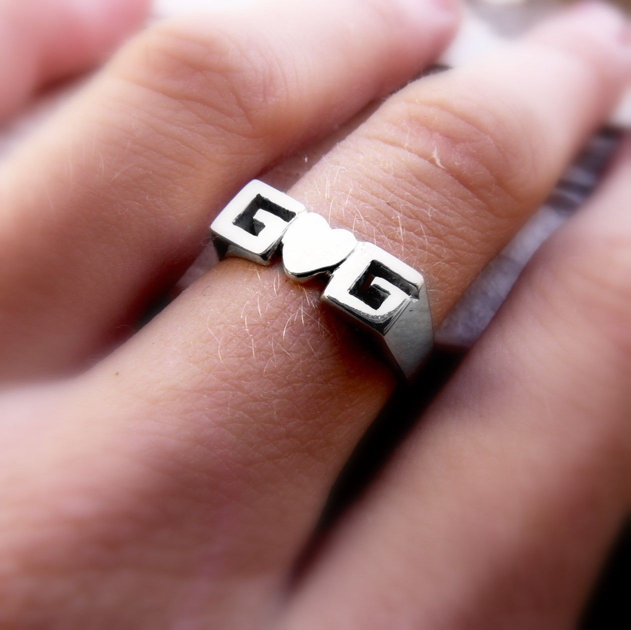 Personal Ring, Sterling silver, Signet ring, Name Ring, Initials ...