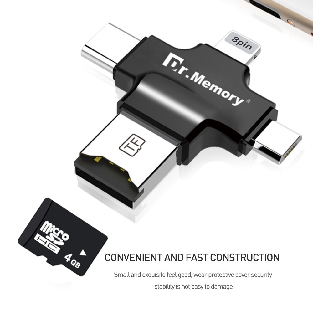 new arrival 7f7ee 514b9 micro Sd card reader for Apple iphone 6s 7 plus Pendrive metal ...
