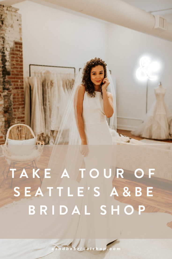 A Be Bridal Shop Seattle Washington A Tour Of A Bridal Boutique In Seattle Modern Free Spirited Wedding Dress Wedding Dress Shopping Seattle Wedding Dress