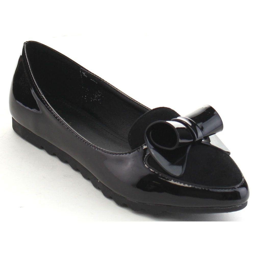 Swan Abrill-2 Women's Pointed Toe Bow Tie Ballet Flats