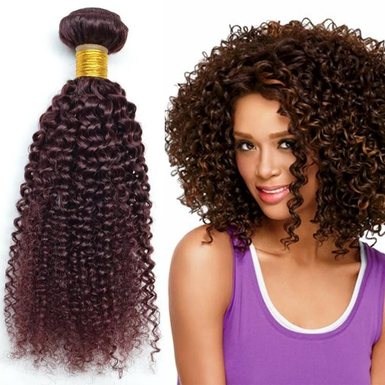 10 30 Burgundy Kinky Curly Hair Extensionsred Wine 99j Brazilian