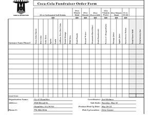 Free Fundraiser Order Form Template Excel