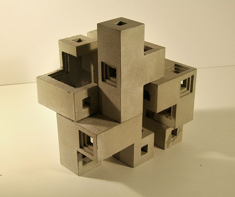 brutalist concrete sculptures by david umemoto faith is