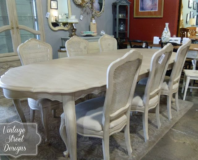 French Provincial Dining Room I Chose To Paint A Base Coat