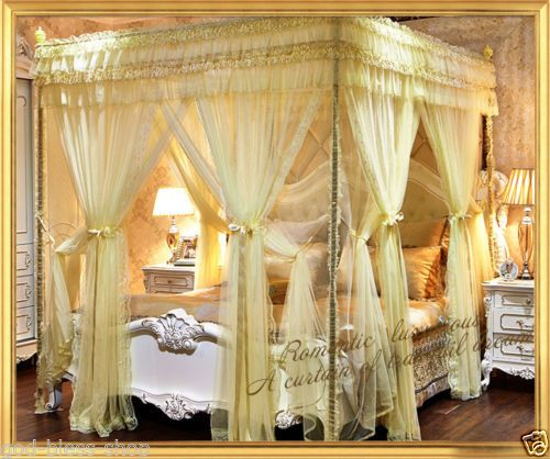 Europe-style-mosquito-net-bed-room-canopy-bed-net-scalable-frame-queen-king-size