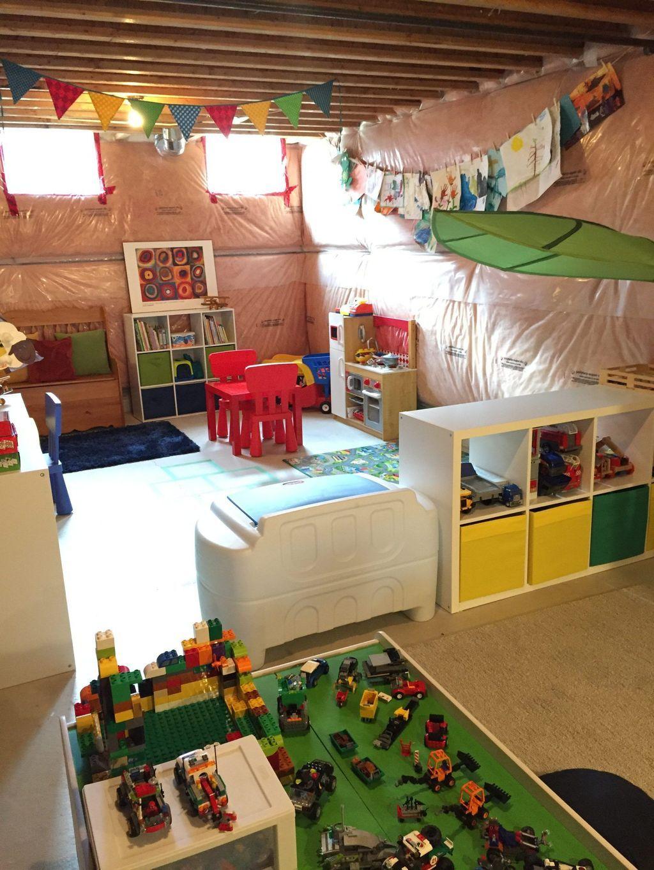 Stunning Basement Playroom Decorating Ideas 30   Basement makeover. Finishing basement. Unfinished basement