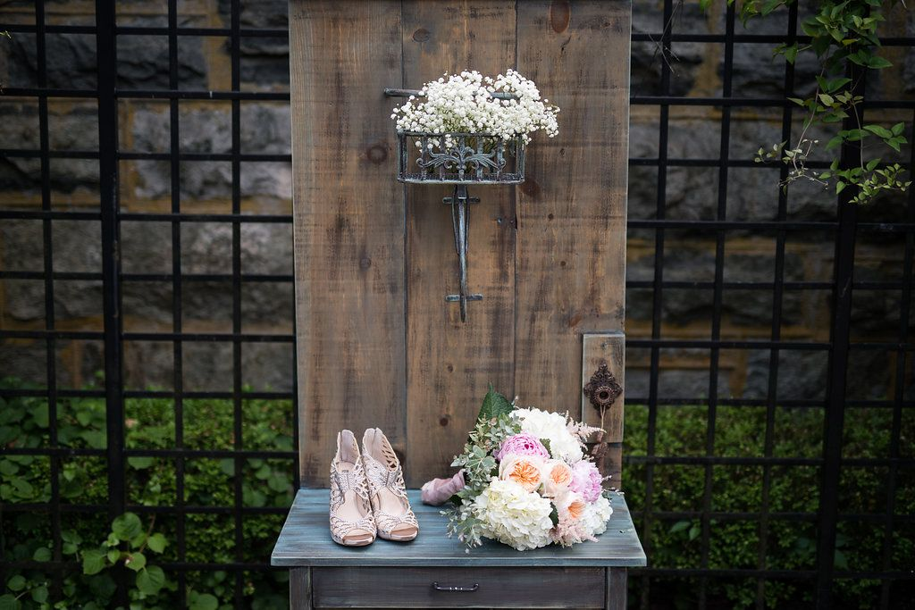 Farmhouse doorserver rental package by distressed outt