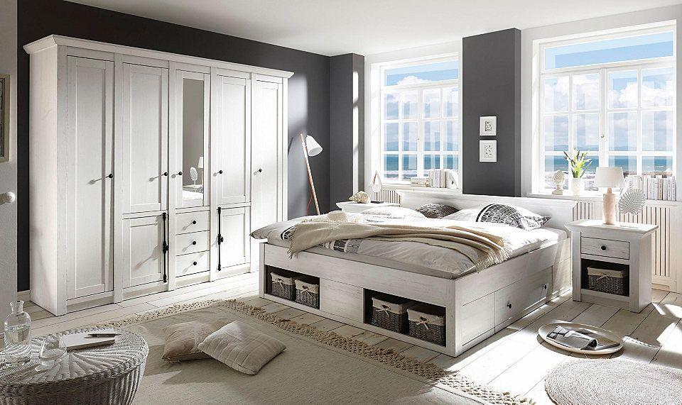 Nice Home affaire Schlafzimmer Set California gro Bett cm Nachttische trg Kleiderschrank Jetzt bestellen unter