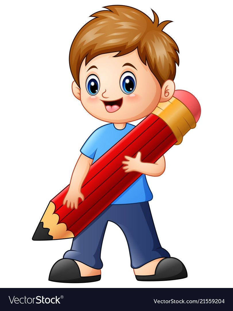 Little Boy clipart body - Pencil and in color little boy