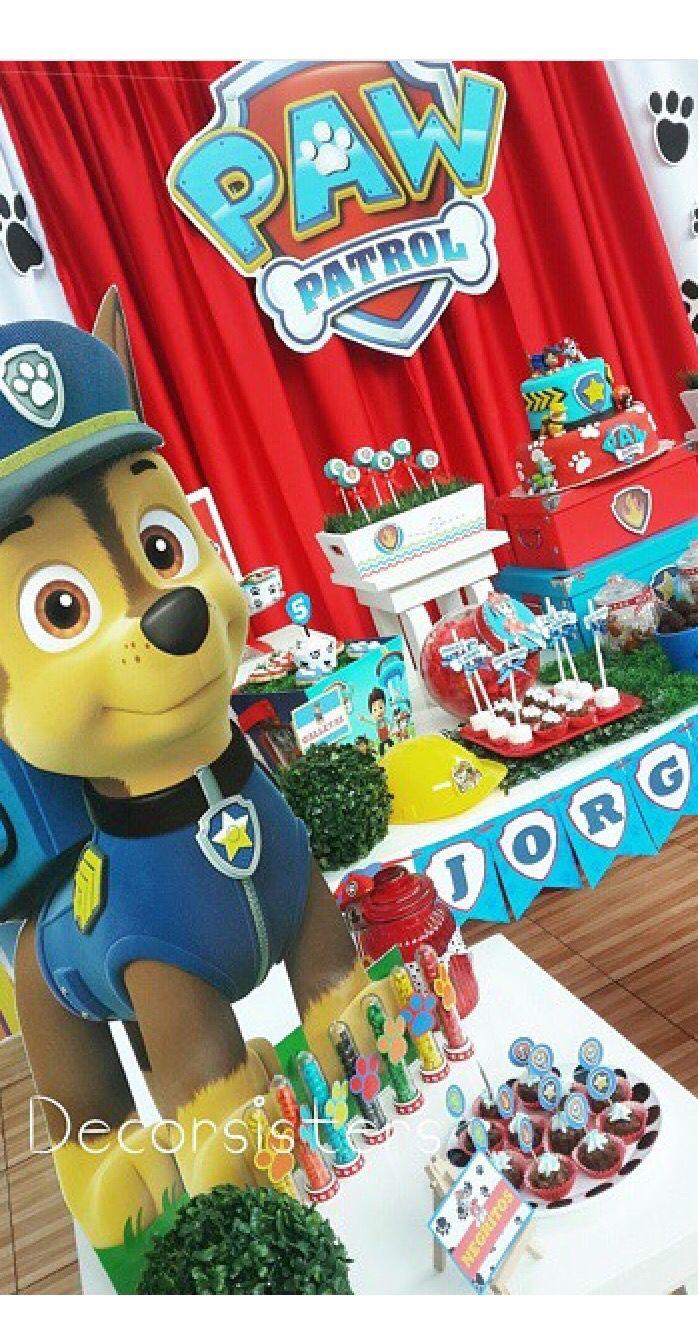 Paw patrol 2 candy bar pinterest cumplea os de paw - Mesa patrulla canina ...