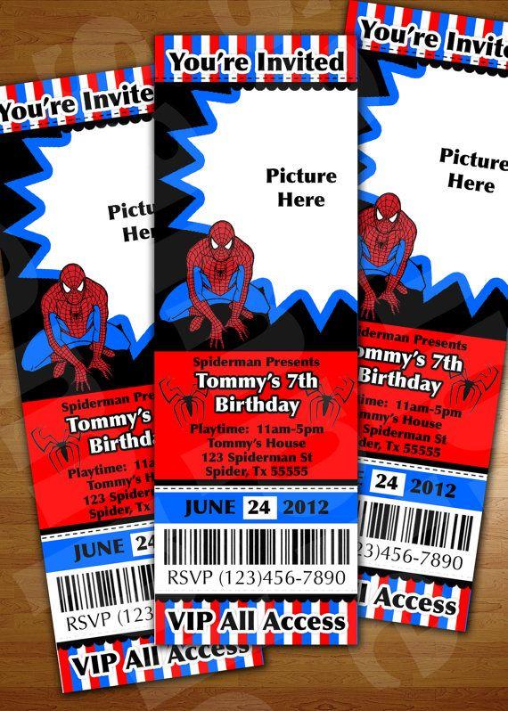 superman ticket invitation birthday party by jaypeacreations 12 99