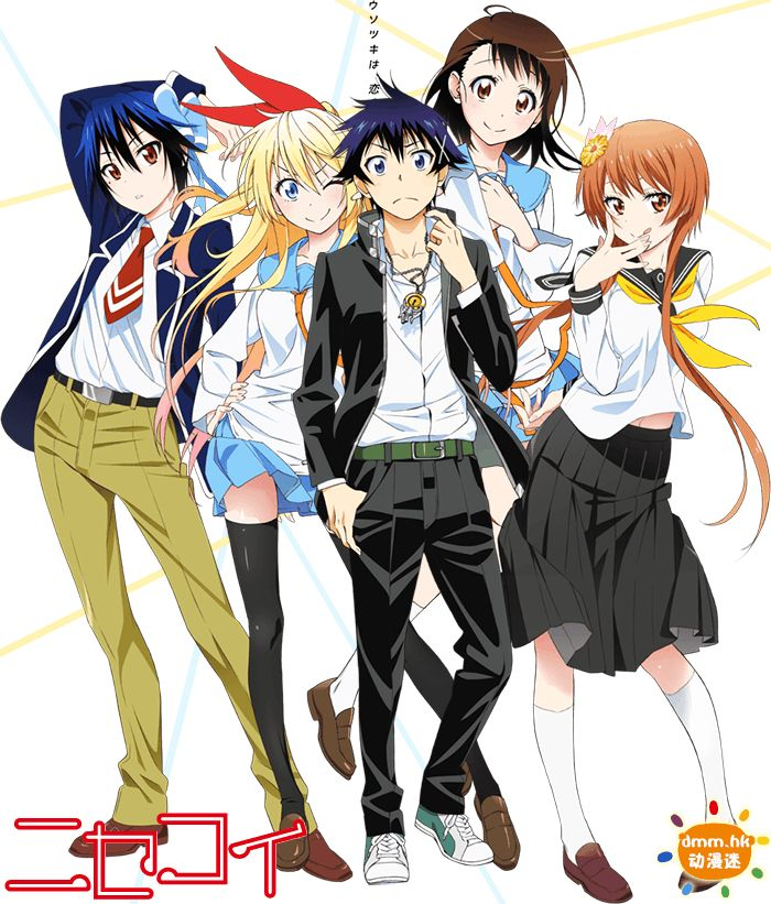 Anime Review Nisekoi A Harem Anime As A Son A Gang Leader And An American Daughter If Another Gang Leader Must Pretend Nisekoi Nisekoi Tsugumi Cute Anime Boy