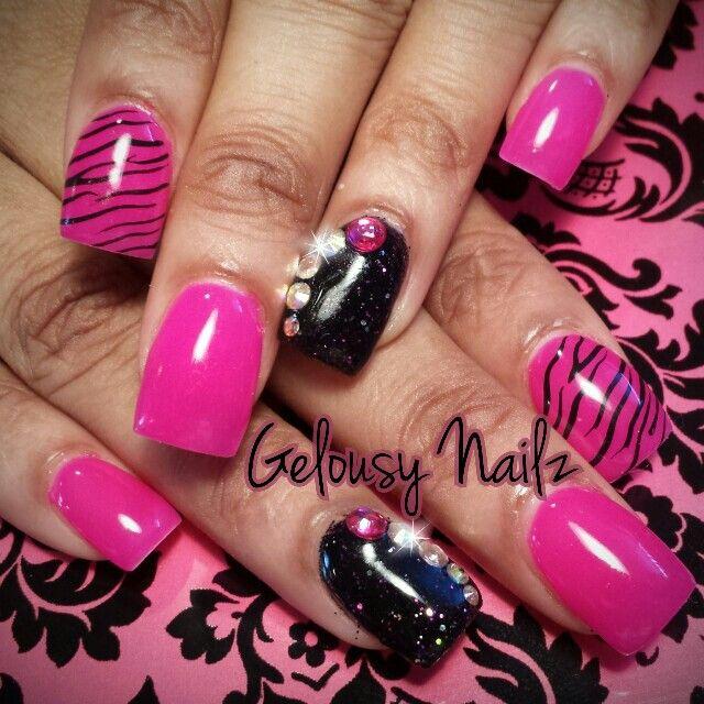 Pink Zebra Nail Design Nails 3 Nails 3 Nails 3 Pinterest