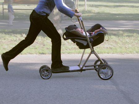 Roller buggy stroller scooter