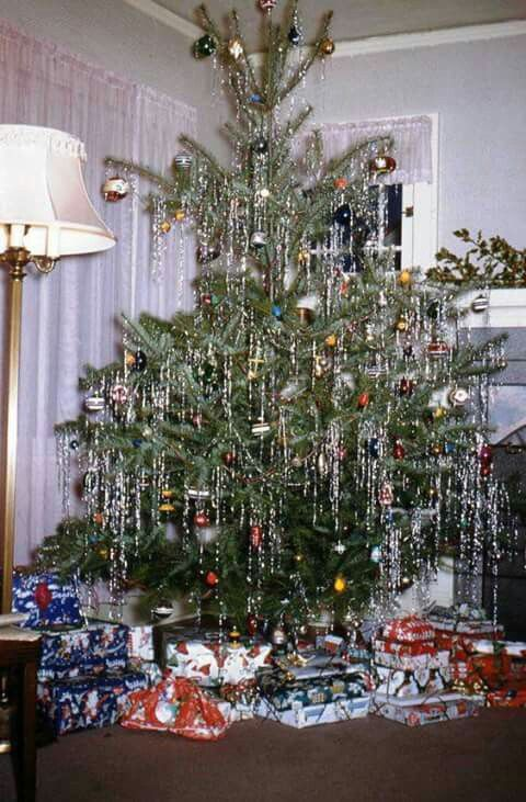 Vintage Christmas tree, like we had before the aluminum one ...
