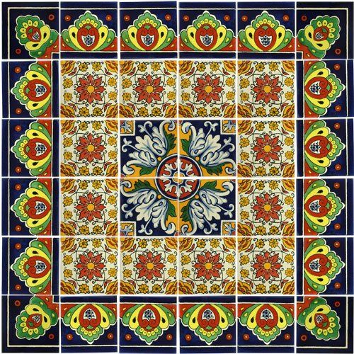 This Beautiful Decorative Mexican Talavera Tile Mural Will Enhance Any Wall In Your Home Perhaps Behind Stove Or On Patio