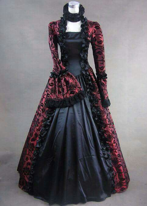 328ed4a61fc Beautiful red and black Victorian dress