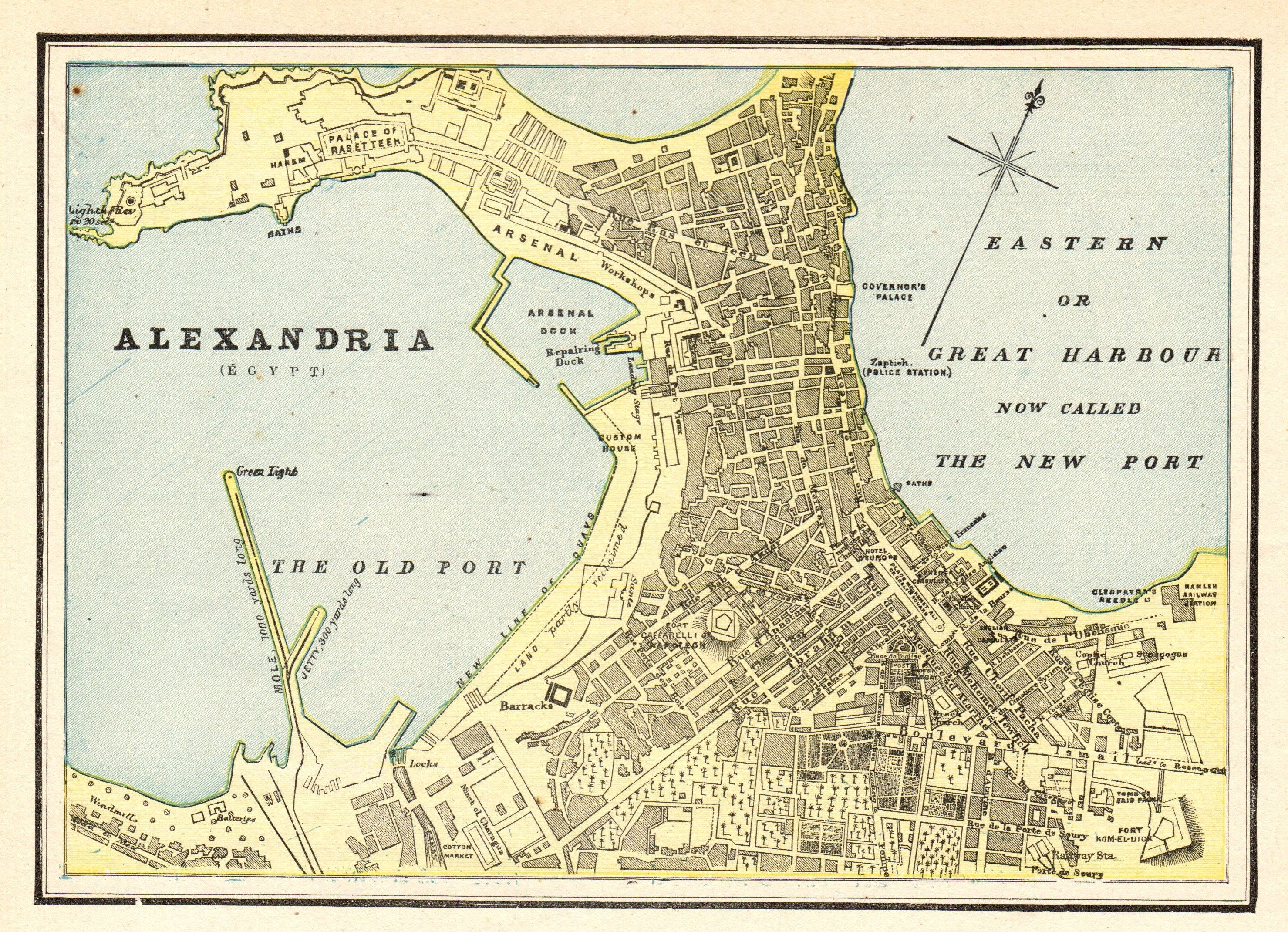 1898 Antique Alexandria Egypt Map Collectible Map Of Alexandria Gallery Wall Art Birthday Gift For Wedding Anniversary 11374 In 2020 Alexandria Egypt Alexandria Map Egypt Map