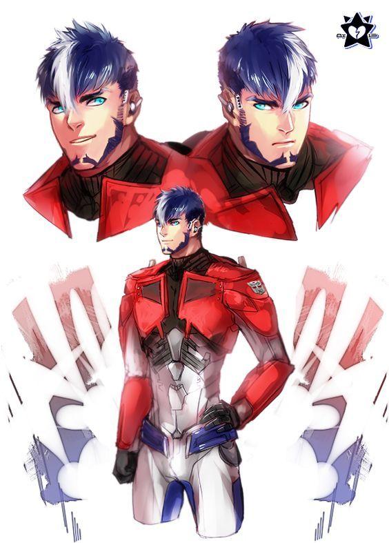 Transformers human Optimus Prime (564×787)   Art