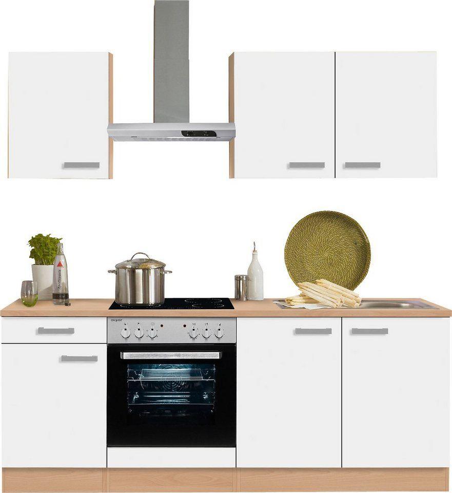Optifit Kuchenzeile Odense Mit E Geraten Breite 210 Cm Another Test Kitchen Cabinets Kitchen Und Kitchen Island