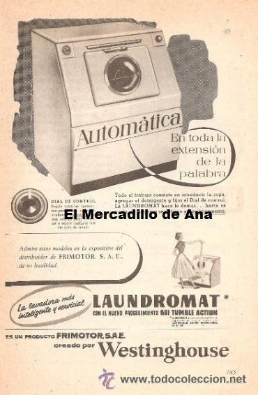 Publicidad de lavadora laundromat westinghouse anuncio - Electrodomesticos retro ...