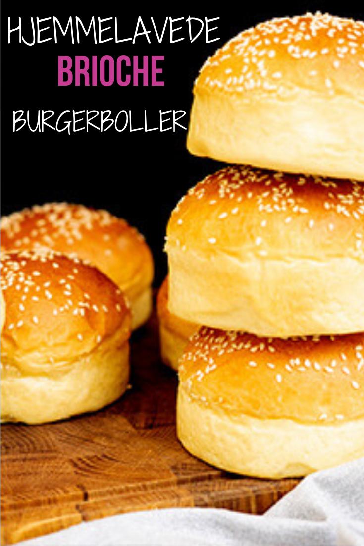 Brioche Burgerboller Opskrift Opskrift Mad Ideer Brioche Og Mad Og Drikke