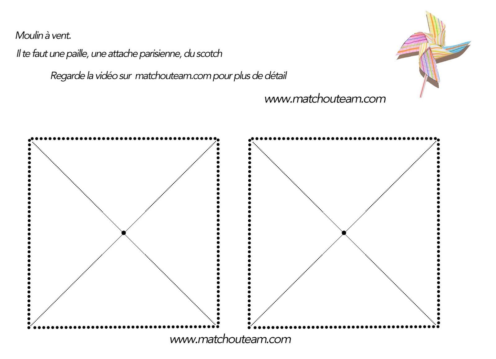 Moulin vent sans punaise pinterest - Comment fabriquer un moulin a vent en papier ...